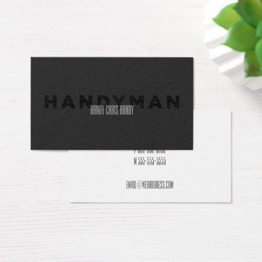 Handyman [Letterpress Style] Business Card