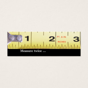Fix it man business cards business card printing zazzle uk measure twice mini business card reheart Image collections