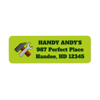 Handyman Mr. Fix-It Business Return Address Labels
