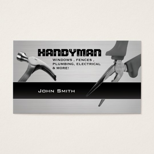 Handyman repair professional business cards