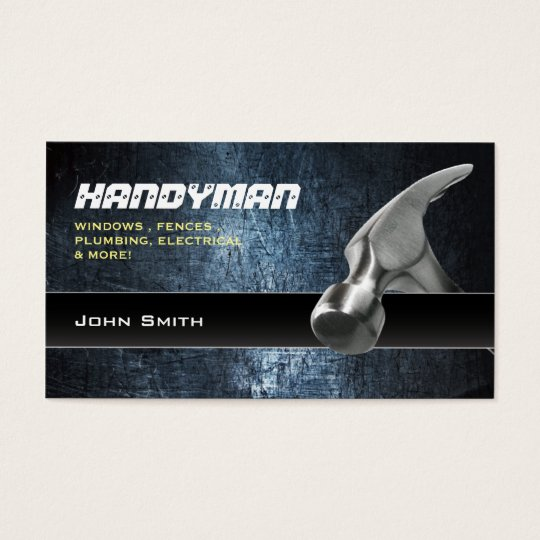 Handyman repair professional business cards