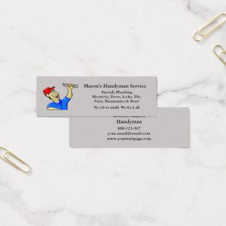 Handyman Repairman Caricature Tools Mini Business Card