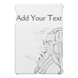 Handyman Sketch in Black and White Business iPad Mini Covers
