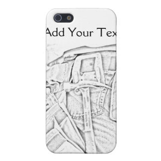 Handyman Sketch in Black and White Business iPhone 5 Cases