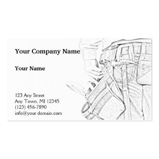 Handyman Sketch in Black and White Business Pack Of Standard Business Cards