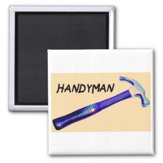 Handyman Square Magnet