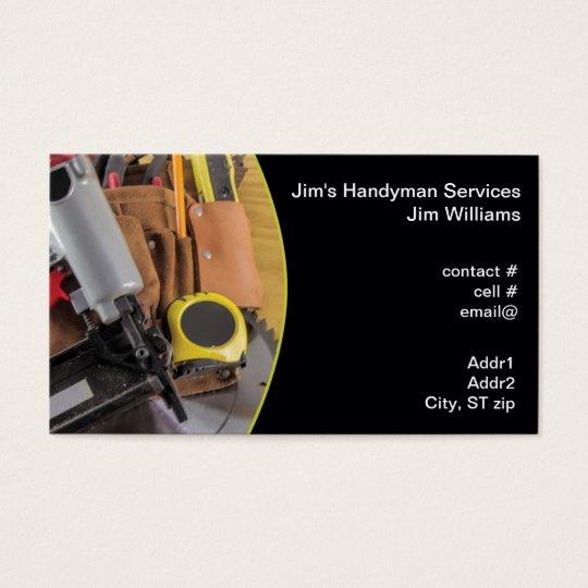 Handyman tool bag business card