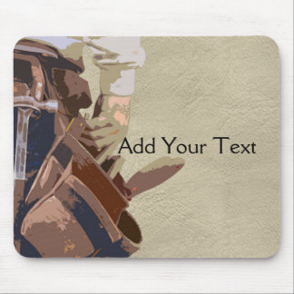 Handyman Tools Watercolor Mouse Mat