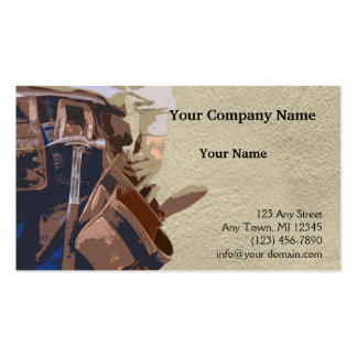 Handyman Tools Watercolor Pack Of Standard Business Cards