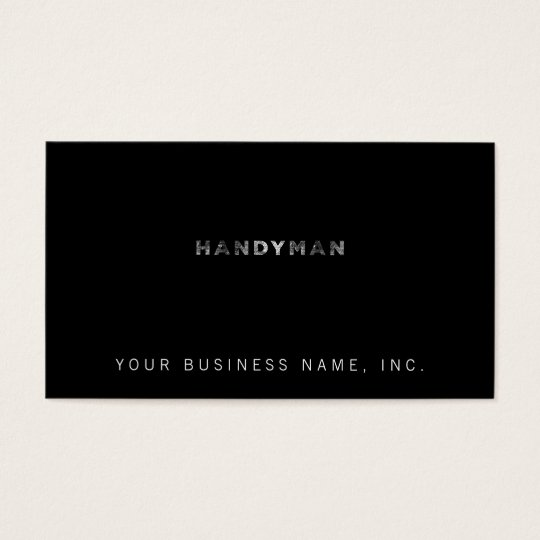 Handyman [White Letterpress Style] Business Card