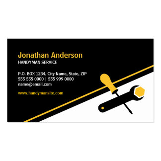 Handyman Working Tools business card