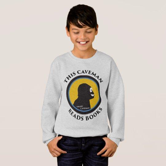 Hanes Comfort Sweatshirt: Read Smart Caveman Sweatshirt