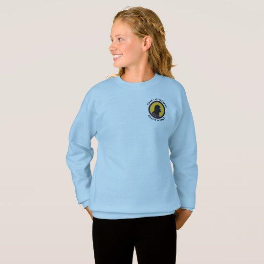 Hanes Comfort Sweatshirt: Read Smart Cavewoman Sweatshirt