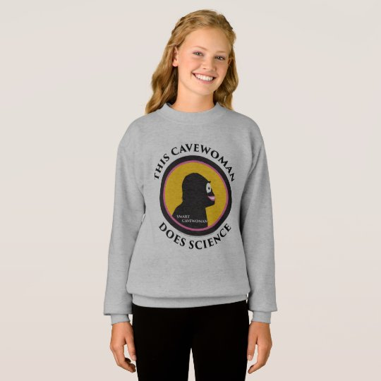 Hanes Comfort Sweatshirt: Science Smart Cavewoman Sweatshirt