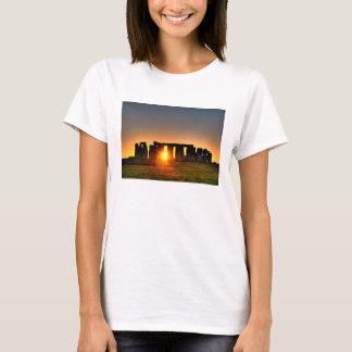 Hanes Nano T-shirt depicting Stonehenge at dawn.