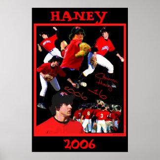 Haney Baseball Poster