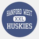 HANFORD WEST - HUSKIES - HIGH - Hanford California Round Stickers
