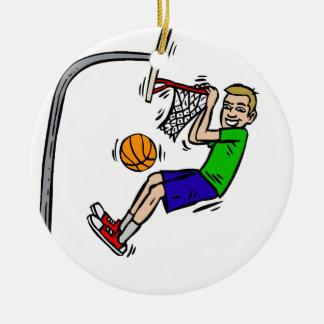 Hang from the rim slam dunk christmas ornament