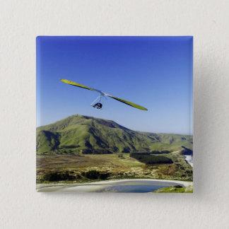 Hang Glider, Otago Peninsula, near Dunedin, 15 Cm Square Badge
