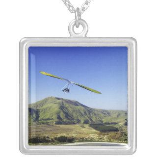 Hang Glider, Otago Peninsula, near Dunedin, Silver Plated Necklace