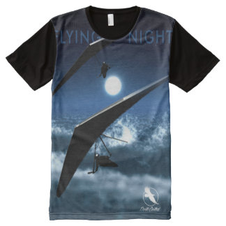 HANG GLIDING Flying Night Ponto Central All-Over Print T-Shirt