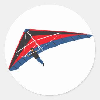 Hang Gliding Round Sticker