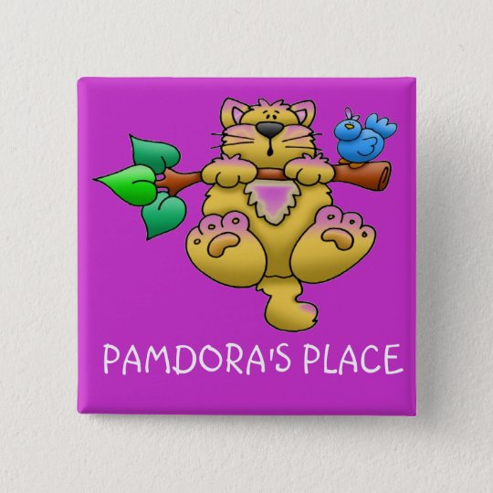 HANG IN THERE 15 CM SQUARE BADGE