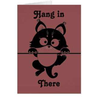 Hang in There Cat Greeting Card