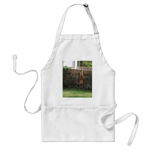 hang in there deer apron