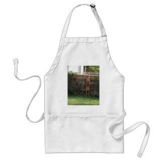 hang in there deer standard apron