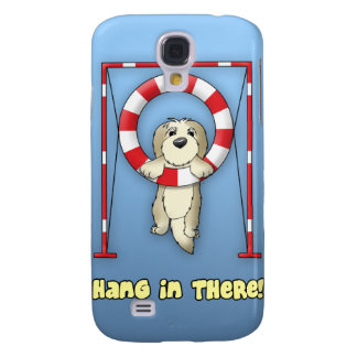 Hang in There Dog Agility Samsung Galaxy S4 Cases