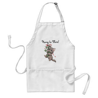 Hang In There Mistletoe Kitten Aprons