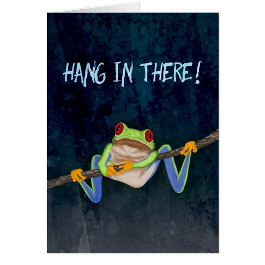 Hang in There Red-Eyed Tree Frog Get Well