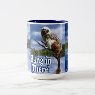 Hang in There! (with Text) Two-Tone Mug