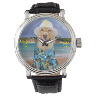 Hang Loose and Carry On Yellow Lab Lover Watch