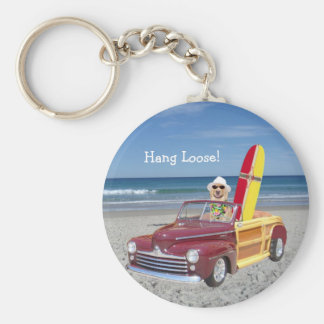 Hang Loose! Basic Round Button Key Ring