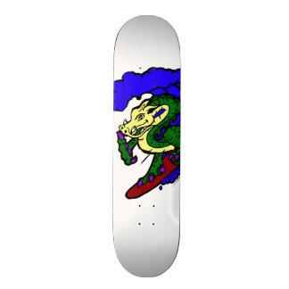 Hang Loose Surfing Dragon Custom Skateboard