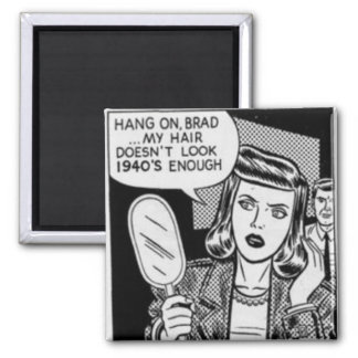 Hang On Brad Square Magnet