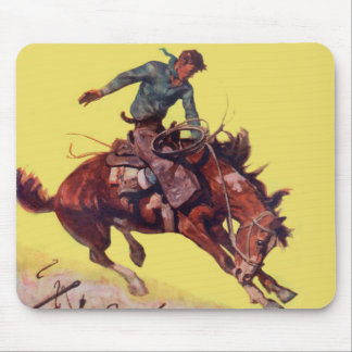 Hang On Cowboy Mousepads