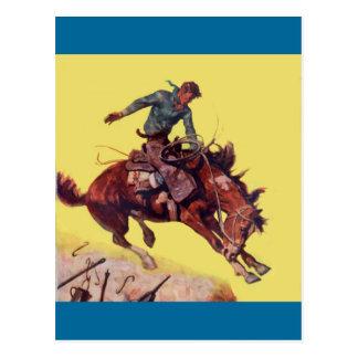 Hang On Cowboy Post Card