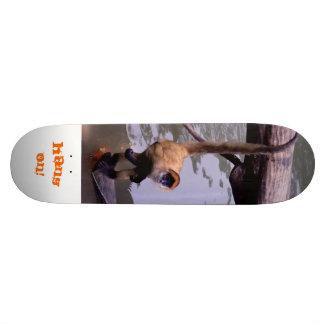 Hang On! Monkey Skateboard