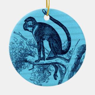 Hang out monkey christmas ornament
