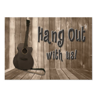 HANG OUT WITH US PARTY INVITATION - JAMMIN' GUITAR