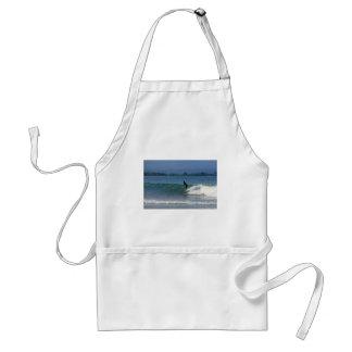 Hang ten surfing tropical coastline apron