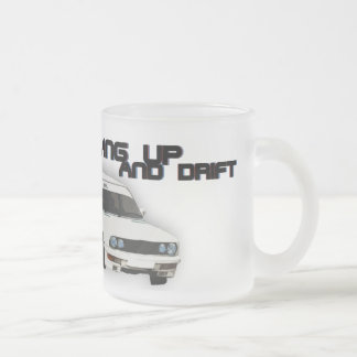 Hang up and Drift Frosted Glass Mug