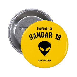 Hangar 18 6 cm round badge
