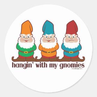 Hangin' With My Gnomies Round Stickers