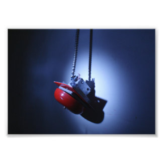 Hanging Alarm Bell Photographic Print