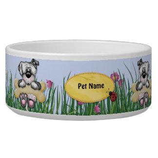 Hanging Around Dogs - Customize Name Pet Bowl