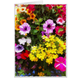 Hanging basket blank card